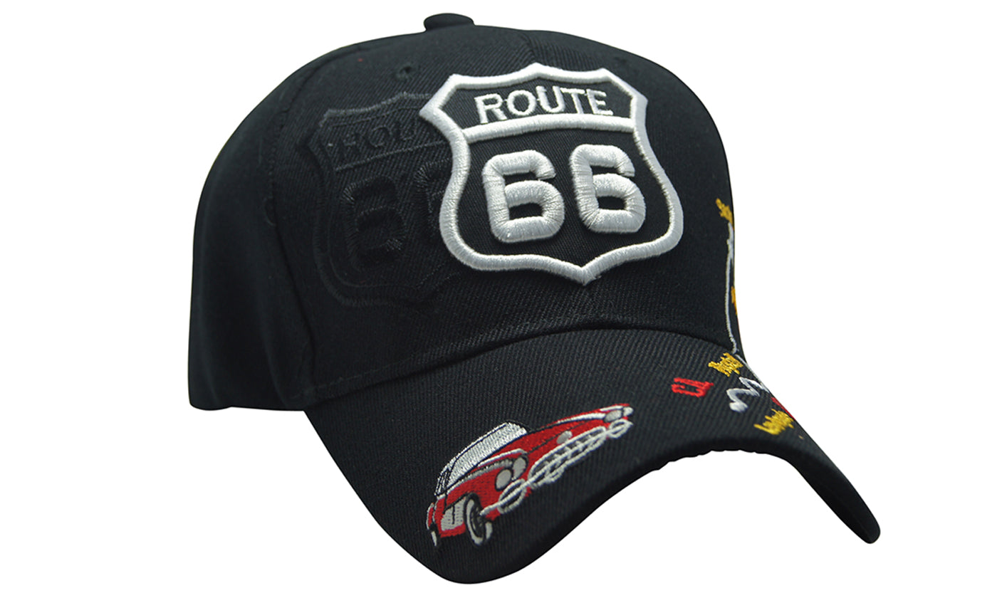 MOTORCAR Famous Route 66 3D Embroidery