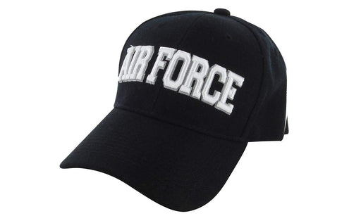 AIRFORCE Ball Caps 3D Embrodiery Black - White