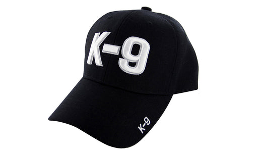 K9 Companion Ball Caps 3D Embrodiery Black - White