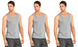 3-6 Packs Mens 100% Cotton Tank Top A-Shirt - Undershirt Ribbed Black