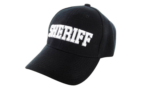 SHERIFF Ball Caps 3D Embrodiery Black-White