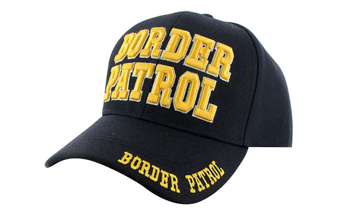BORDER PATROL Ball Caps 3D Embrodiery Black-Gold