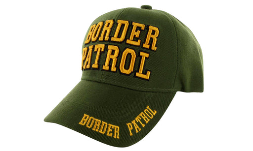 BORDER PATROL Ball Caps 3D Embrodiery Green-Gold