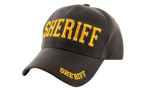SHERIFF Ball Caps 3D Embrodiery Brown-Gold