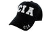 CIA Ball Caps 3D Embrodiery Black - White