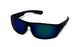 Walter Mirrored Wrap Retro Colored Horn Rimmed Sunglasses 9618