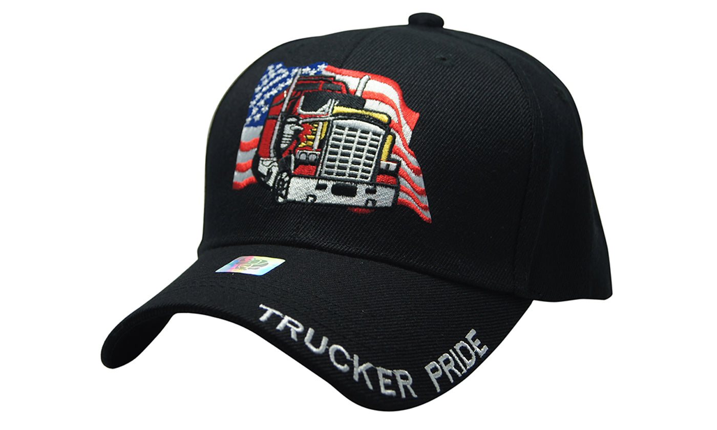 TRUCKER PRIDE ROUTE 66 3D MAP Embroidery Ball Caps