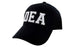 DEA Law Enforcement Ball Caps 3D Embrodiery Black - White
