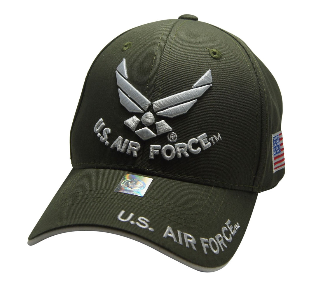 Official Licensed  U.S. AIRFORCE Cap/Hat Embroidered OLIVE/WHITE