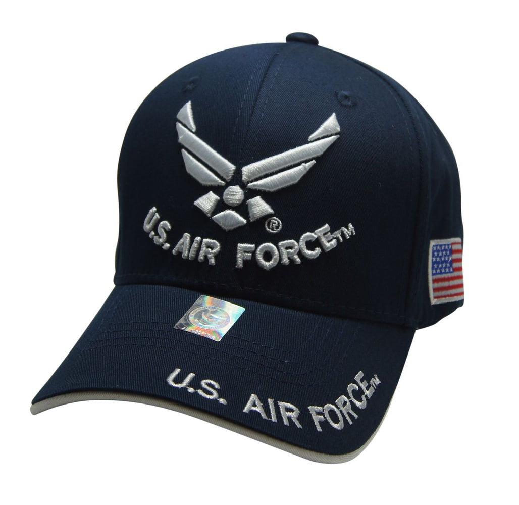 Official Licensed  U.S. AIRFORCE Cap/Hat Embroidered  NAVY/WHITE