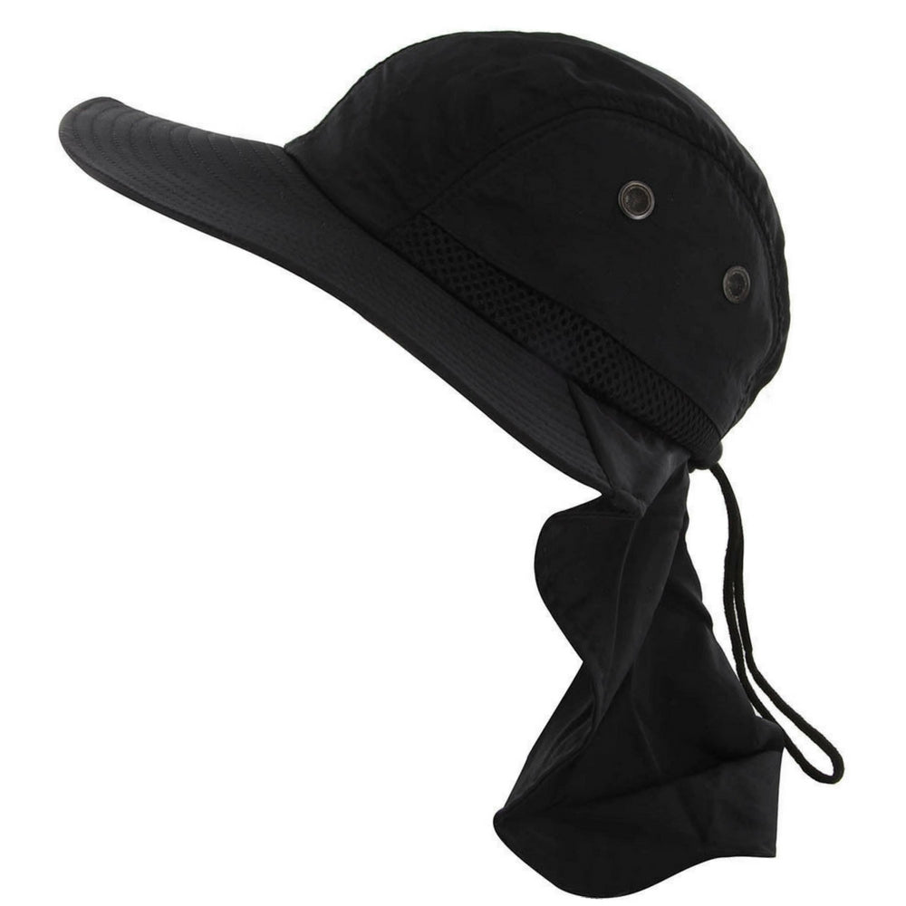 3b1fd553f4c Outdoor Fishing Camping Hunting Boonie Snap Brim Cap Ear Neck Cover Sun Flap