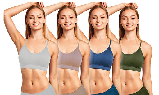 Blanca Women's Seamless Sports Bra Criss Cross Back (6Pack) BRO153SP