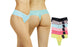 Blanca Ladies Pastel Lace Thong Panty Bikini  (12 Pack) LP7929