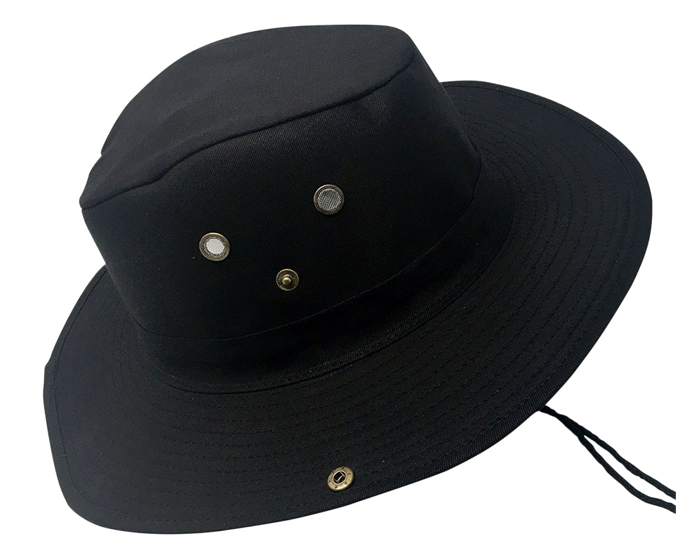 Boonie Bush Outdoor Fishing Hiking Hunting Boating Snap Brim Hat BLACK