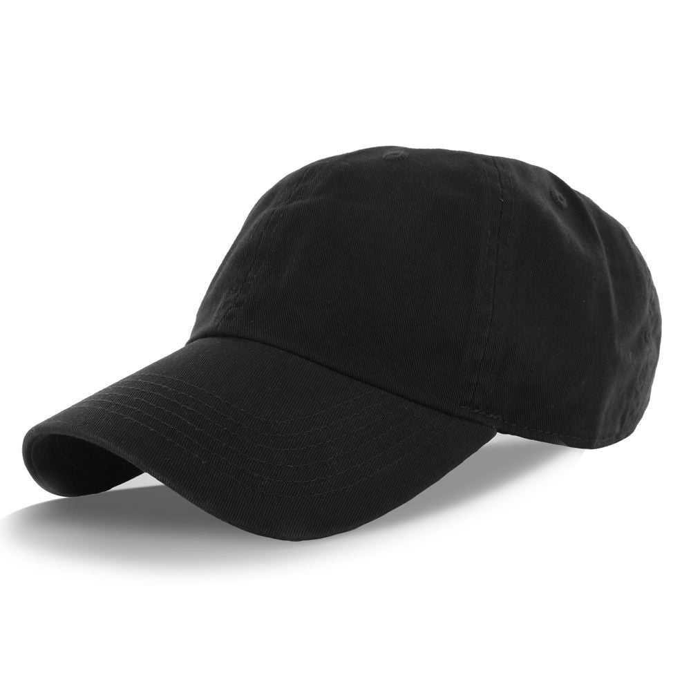Classic Cotton Low Profile Polo Cap Color Black