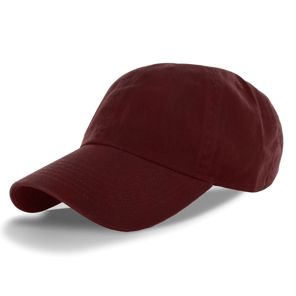 True Classic Cotton Dad Hat Adjustable Plain Cap. Polo Style Low Profile (Single)