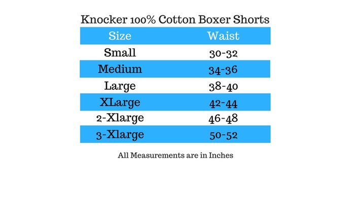 Knocker Men's Classic Plaid Boxer Shorts 100% Cotton Soft (6 Pack)