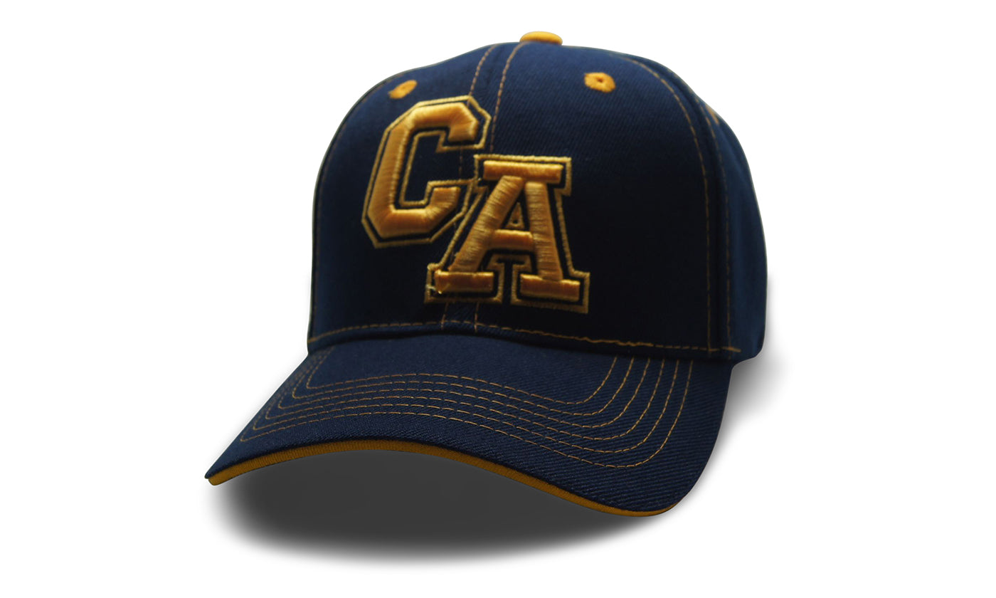 State Initals California Black n Gold