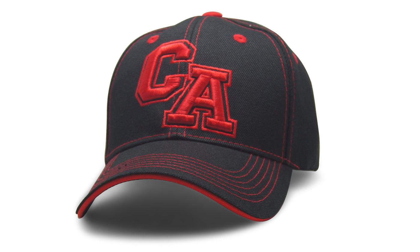 State Initals California Black n Red
