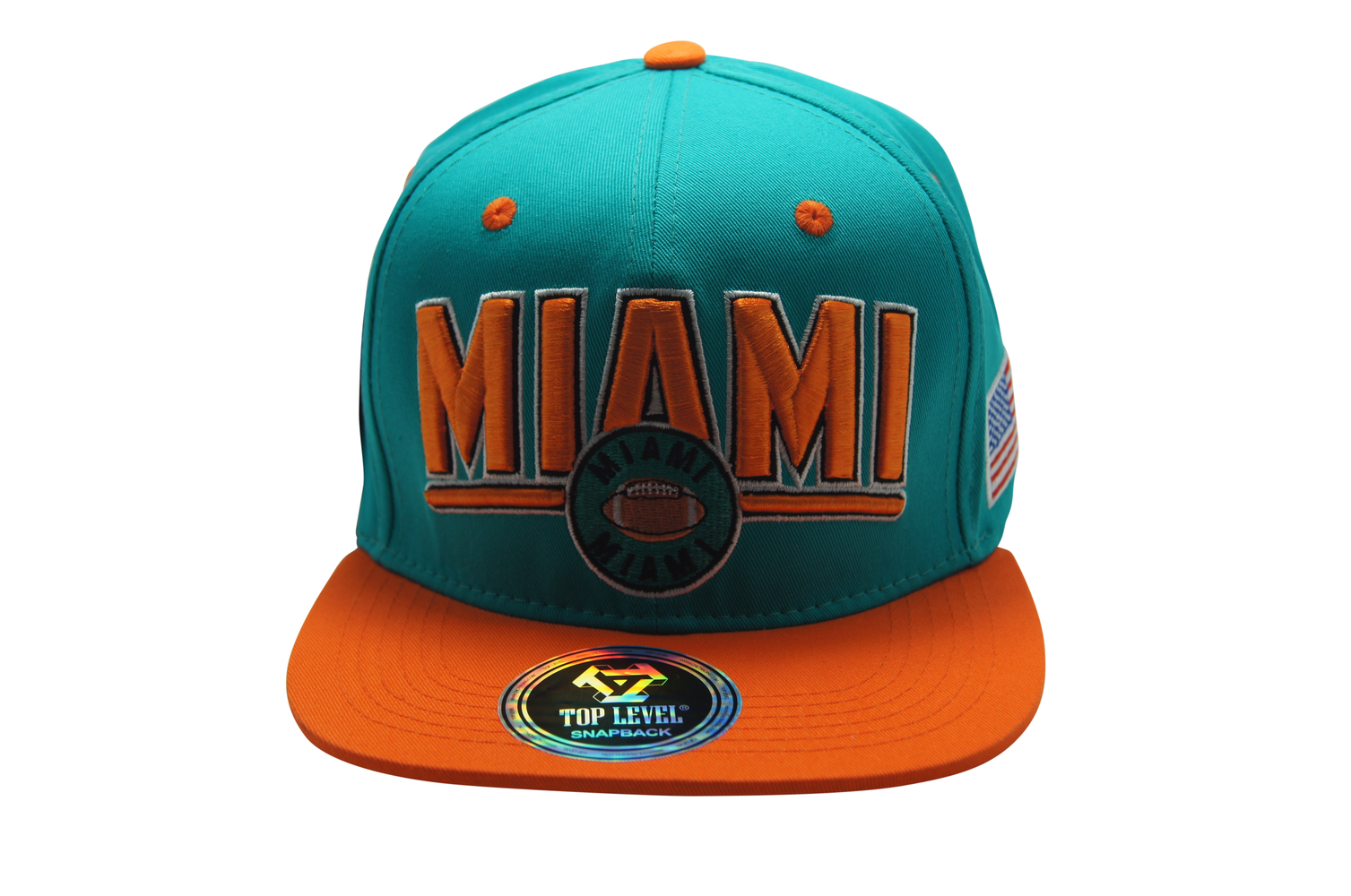 Flat Bill Miami 3D Embroidery