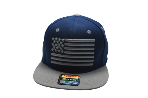 Flat Bill USA Flag 3D Embroidery Navy