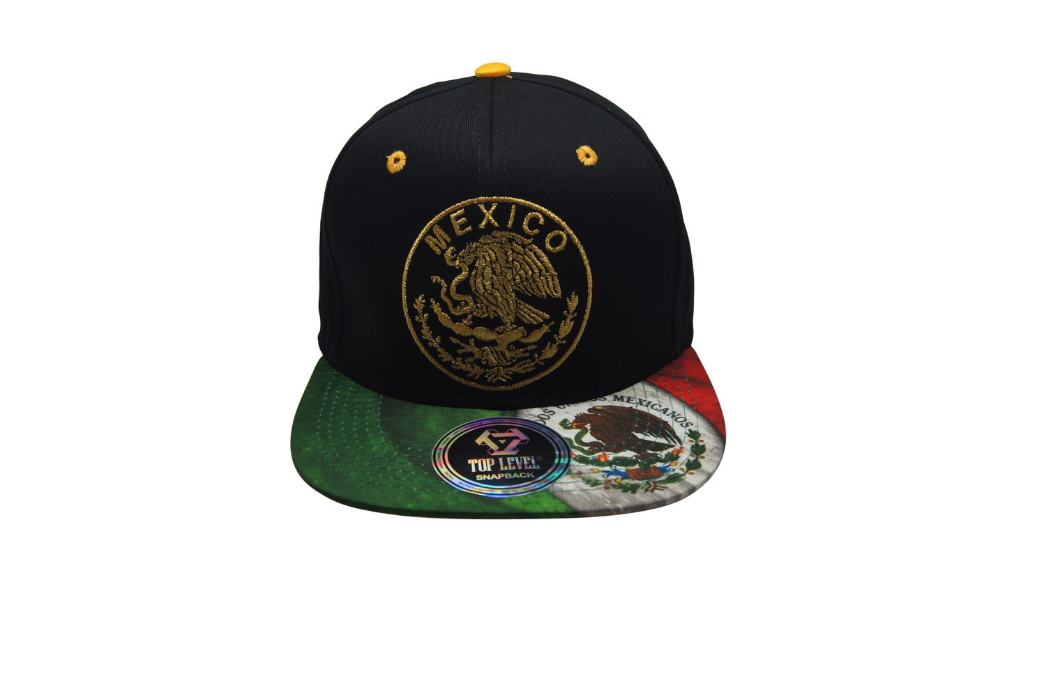 Flat Bill Mexico 3D Embroidery Black - Green Bill