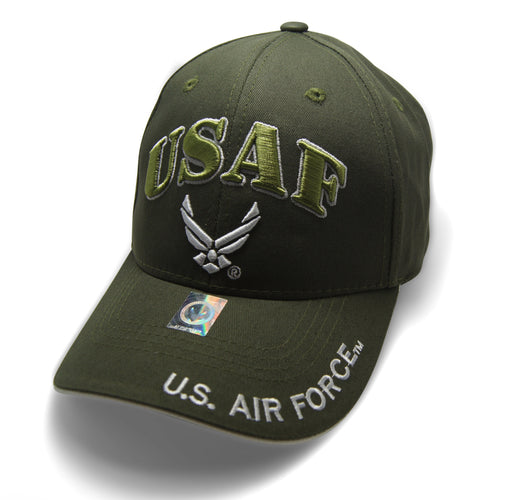 Official Licensed  AIRFORCE USAF Cap/Hat Embroidered OLIVE/WHITE