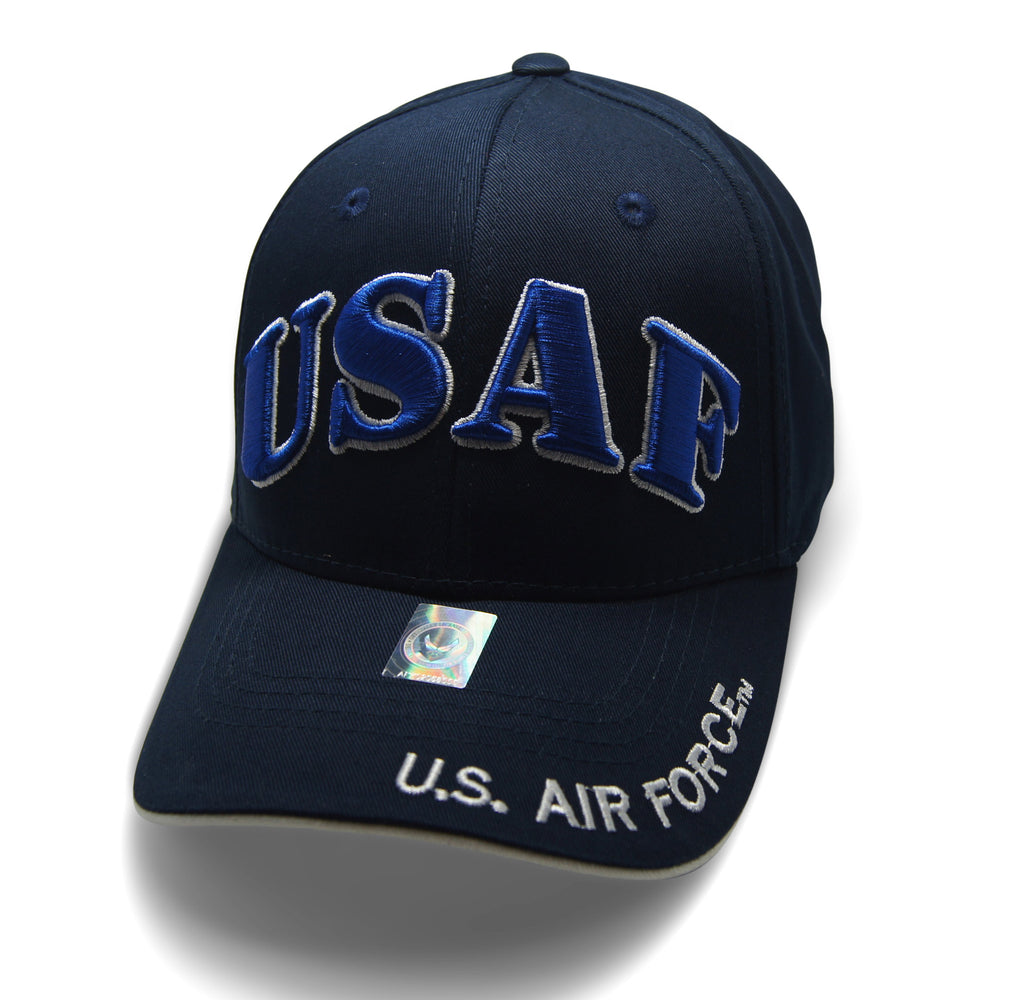 Official Licensed  AIRFORCE USAF Cap/Hat Embroidered NAVY/WHITE