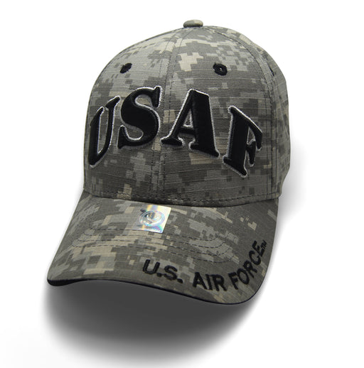 Official Licensed  AIRFORCE USAF Cap/Hat Embroidered DIGI/BLACK