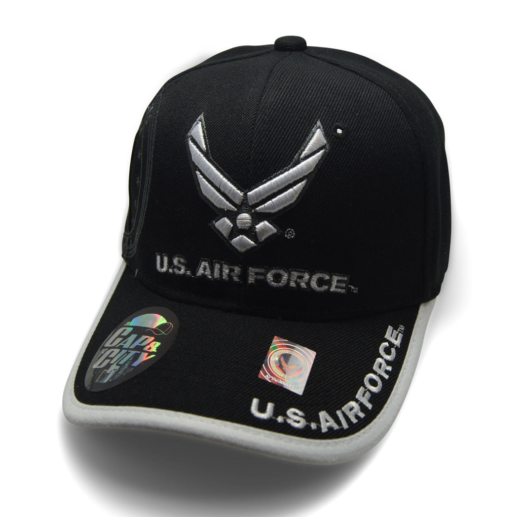 Official Licensed  U.S. AIRFORCE Cap/Hat Embroidered BLACK/WHITE