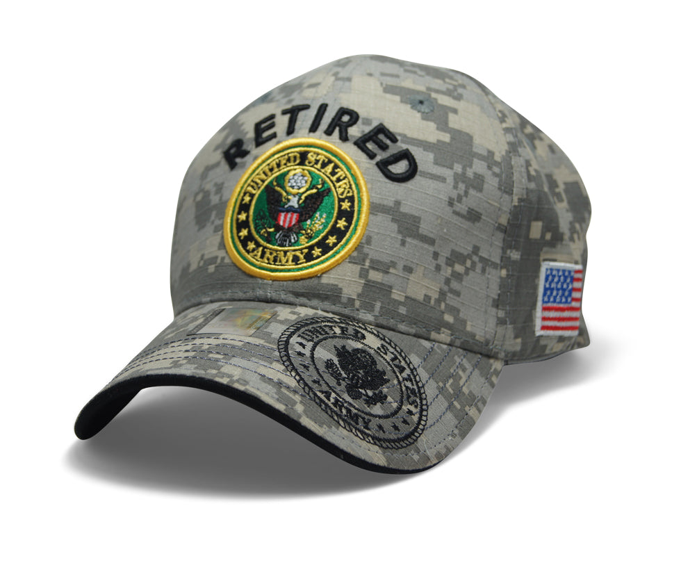 a4d2794f653cc4 Official Licensed Military RETIRED U.S.ARMY Cap/Hat Embroidered Digi/Black