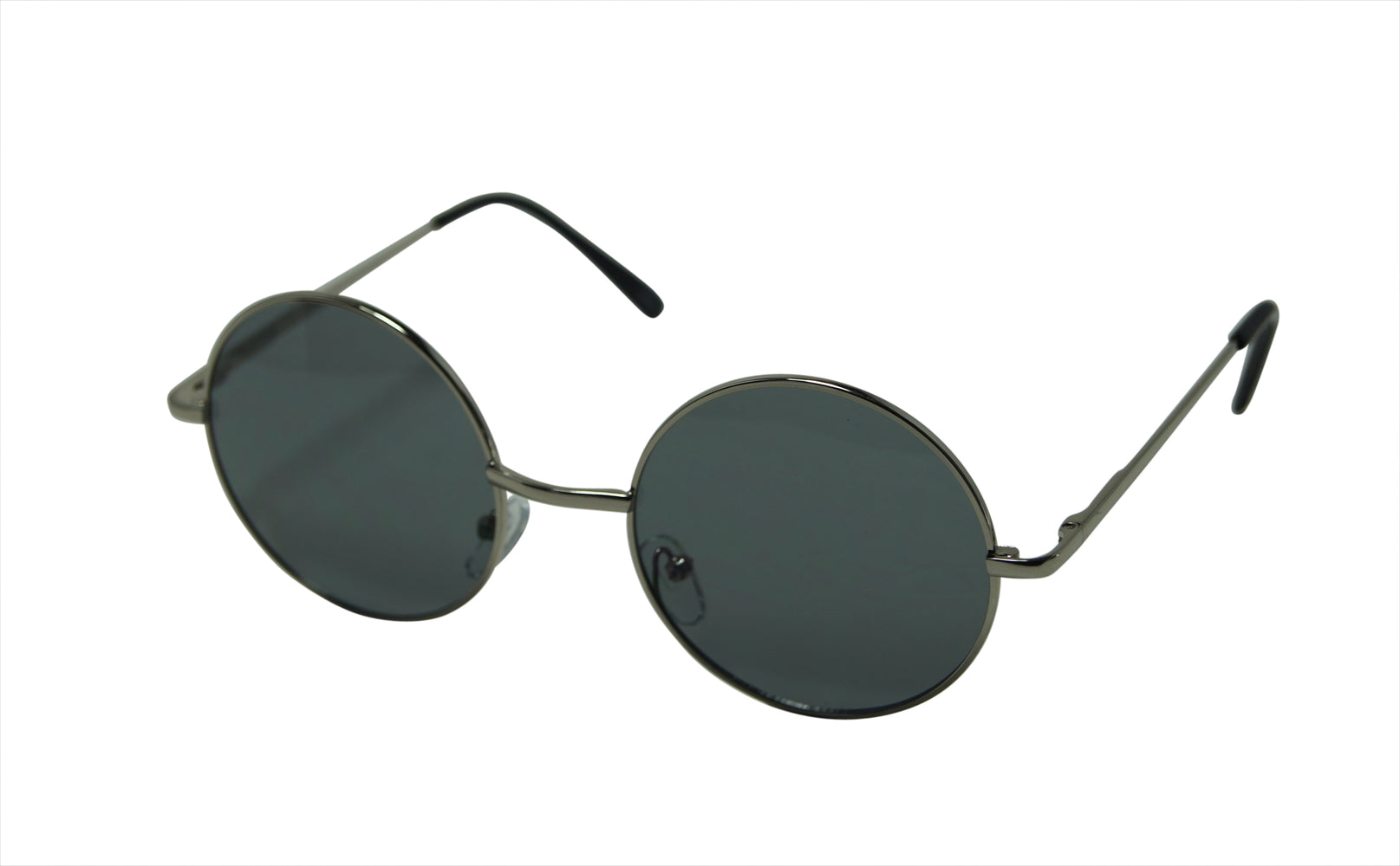 Walter Oversize Slim Temple Round Lens Metal Frame Sunglasses 3385