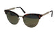 Blanca Retro Half Frame Metal Horned Rim Mirrored Frame Cat Eye Sunglasses 7090