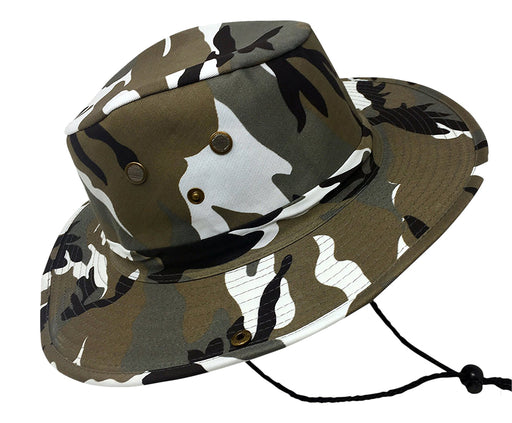 Boonie Bush Outdoor Fishing Hiking Hunting Boating Snap Brim Hat DESERT CAMO