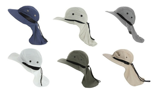 Outdoor Fishing Camping Hunting Boonie Snap Brim Cap Ear Neck Skin Cover Sun Flap