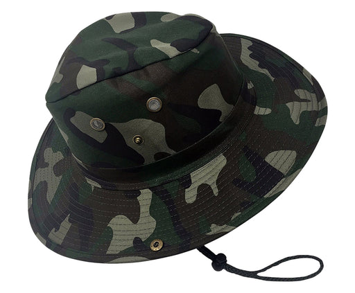 Boonie Bush Outdoor Fishing Hiking Hunting Boating Snap Brim Hat FOREST CAMO