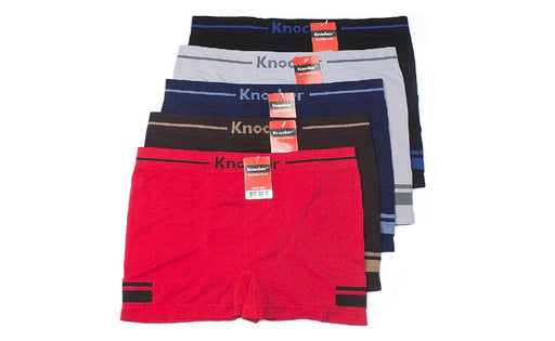 Knocker's Men Athletic Seamless Boxer Briefs (12 Pack) GALVESTON