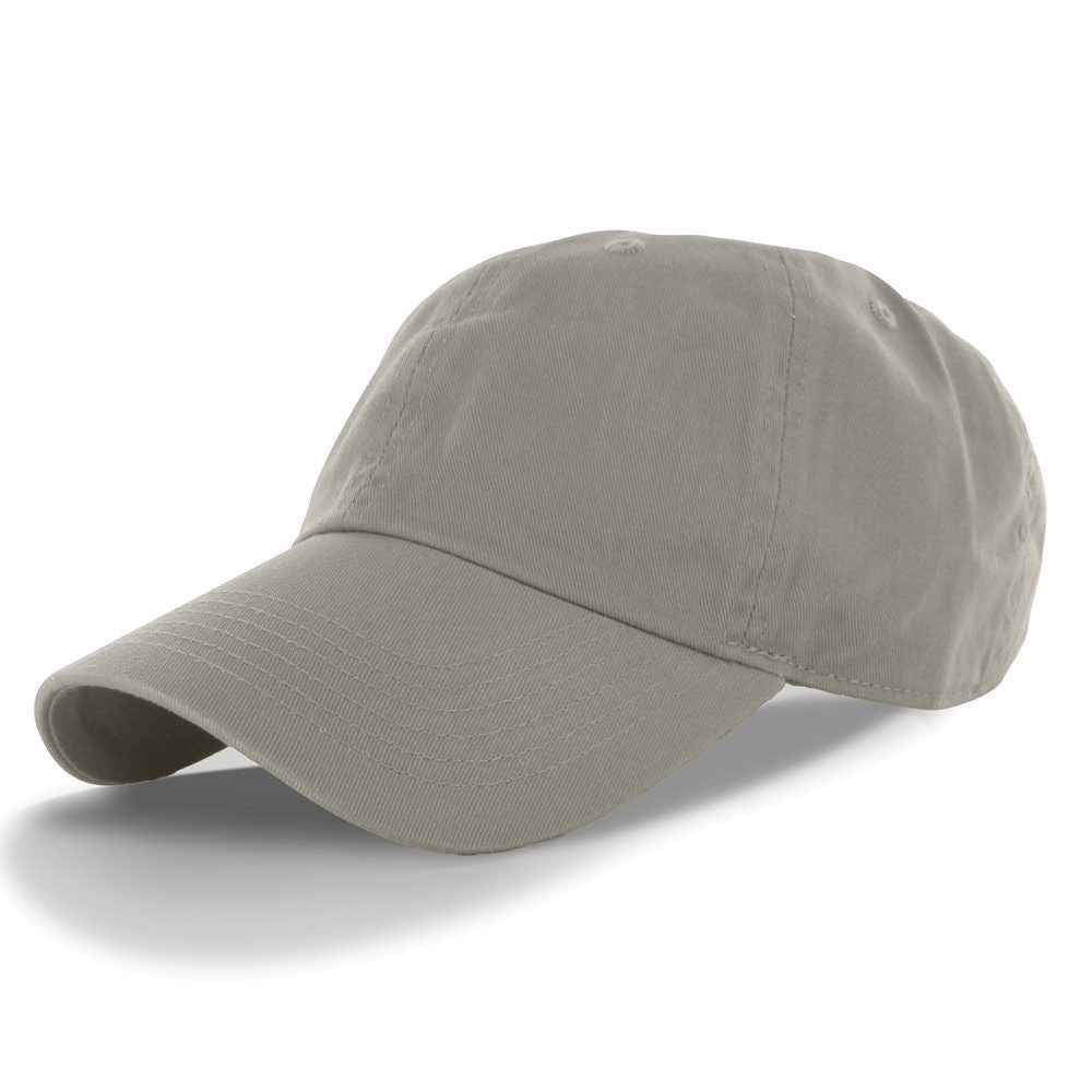 Classic Cotton Low Profile Polo Cap Color Grey
