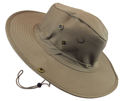 Boonie Bush Outdoor Fishing Hiking Hunting Boating Snap Brim Hat KHAKI