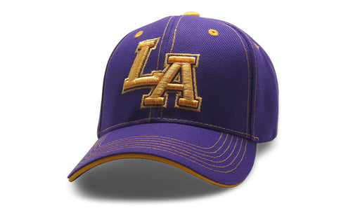 City Initals Los Angeles Purple n Gold