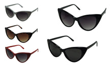 Blanca Women's Retro Oversized High Point Cat Eye Sunglasses