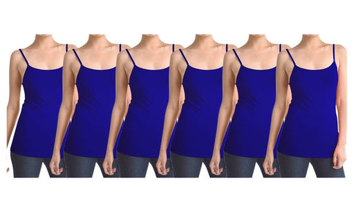 Berry Blue Navy Women's Slimming Camisoles with Adjustable Straps (6-Pack)