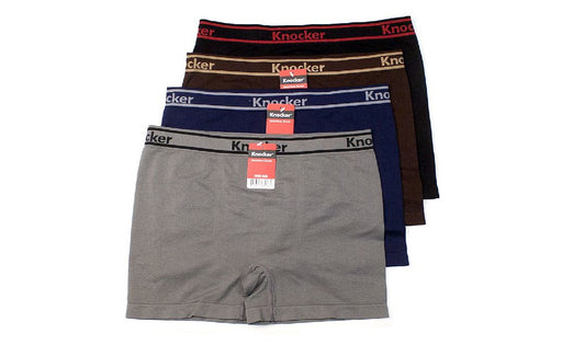 Knocker's Men Athletic Seamless Boxer Briefs (12 Pack) PATHWAYS