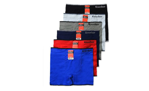 Knocker's Men Athletic Seamless Boxer Briefs (6 Pack) SEDONA