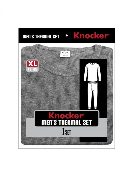 Knocker's Men's 2pc Long Thermal Underwear Set - GREY