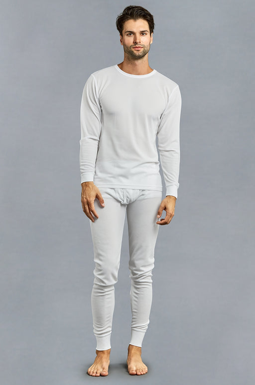 Knocker's Men's 2pc Long Thermal Underwear Set - WHITE