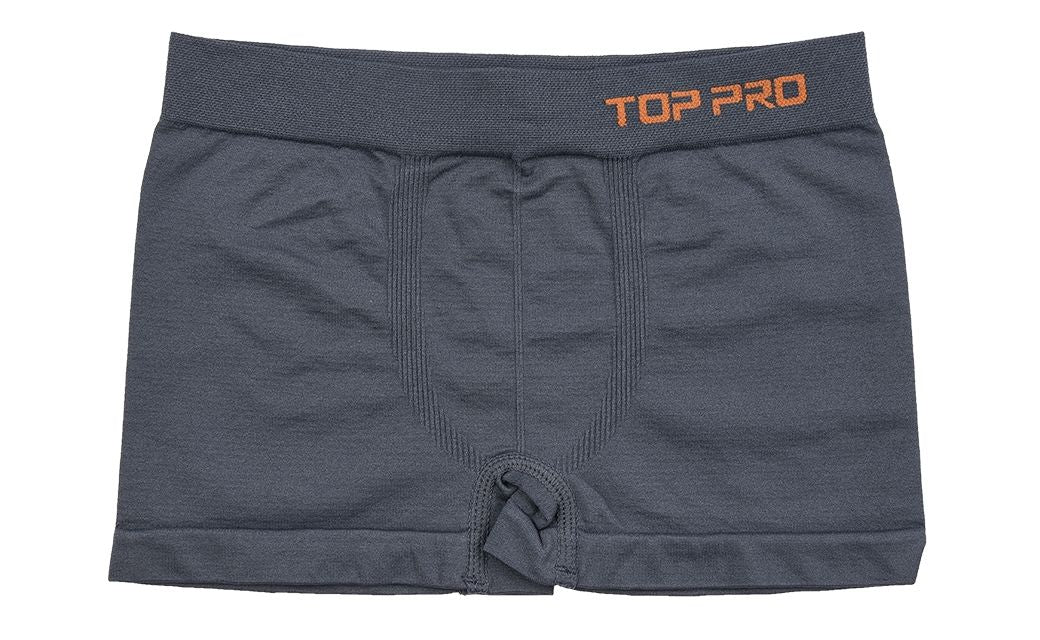 TOP PRO Boys Boxer Shorts Seamless Briefs Kids Soft Underwear (6 Pack) GREY