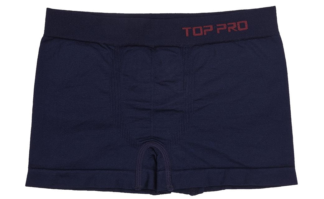 TOP PRO Boys Boxer Shorts Seamless Briefs Kids Soft Underwear (6 Pack) NAVY