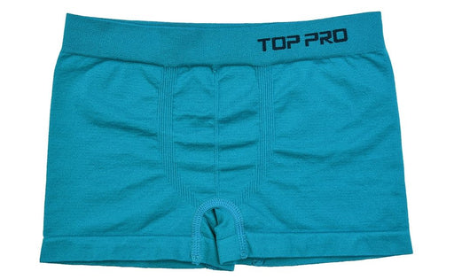 TOP PRO Boys Boxer Shorts Seamless Briefs Kids Soft Underwear (6 Pack) TEAL
