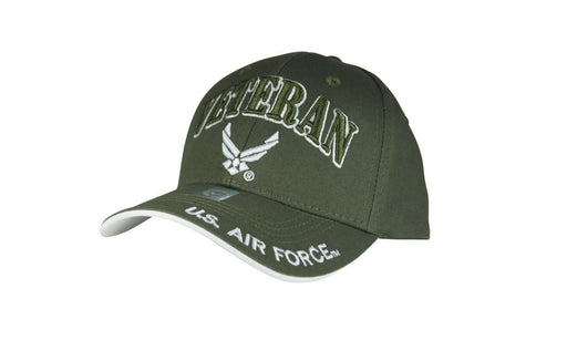 Official Licensed Military U.S.AIRFORCE VETERAN Cap/Hat Embroidered Olive